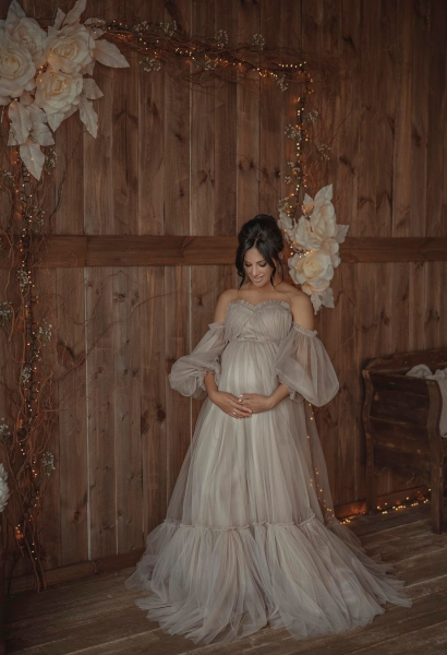 ELIE Maternity Gown for Photoshoot