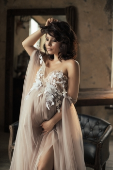 Maternity couture wedding dress Aurelia