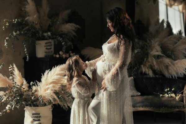 PEARL Maternity gown for Photoshoot