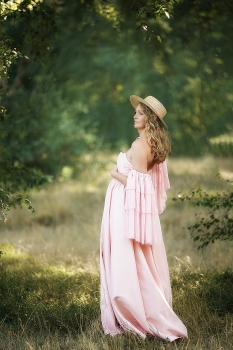CHELSEY Maternity gown for ohotoshoot or Babyshower