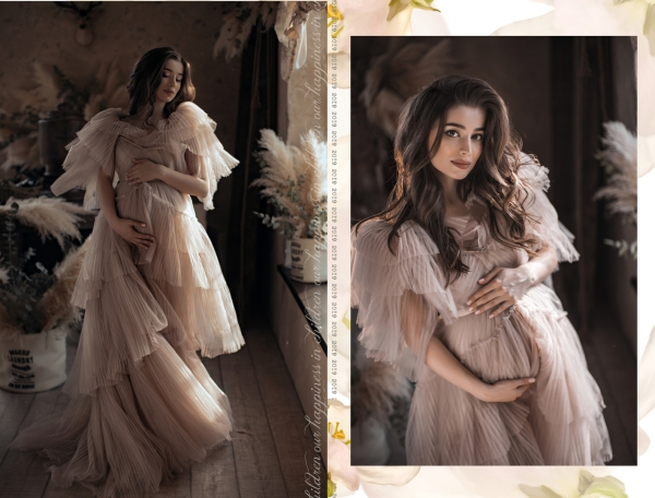 SWAN Maternity gown for Photoshoot or Babyshower