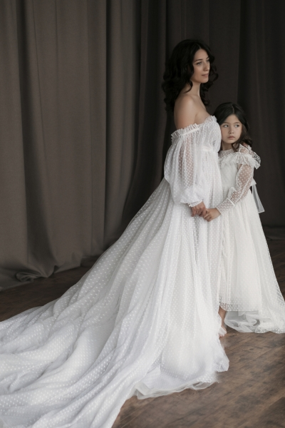 Mommy and me gown for photoshoot Esther