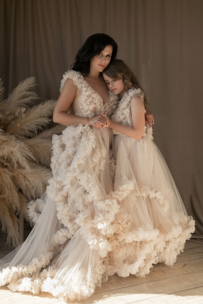 COCO Mommy and Me gowns for Photoshoot